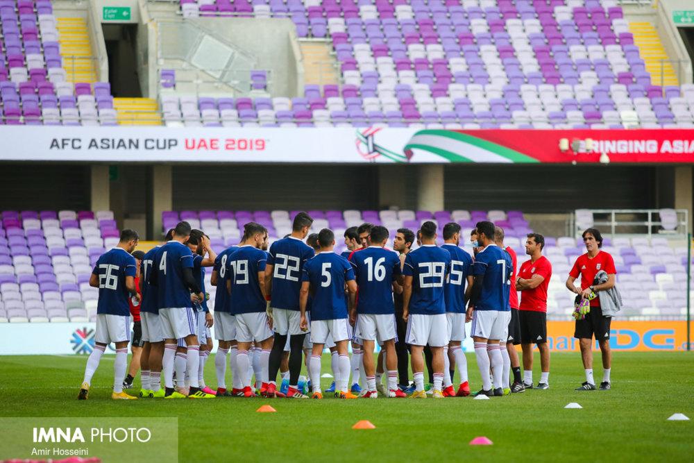 آخرین تمرین تیم ملی پیش از دیدار با ژاپن