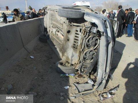 مرگ سرنشین سمند در محور دهاقان - شهرضا