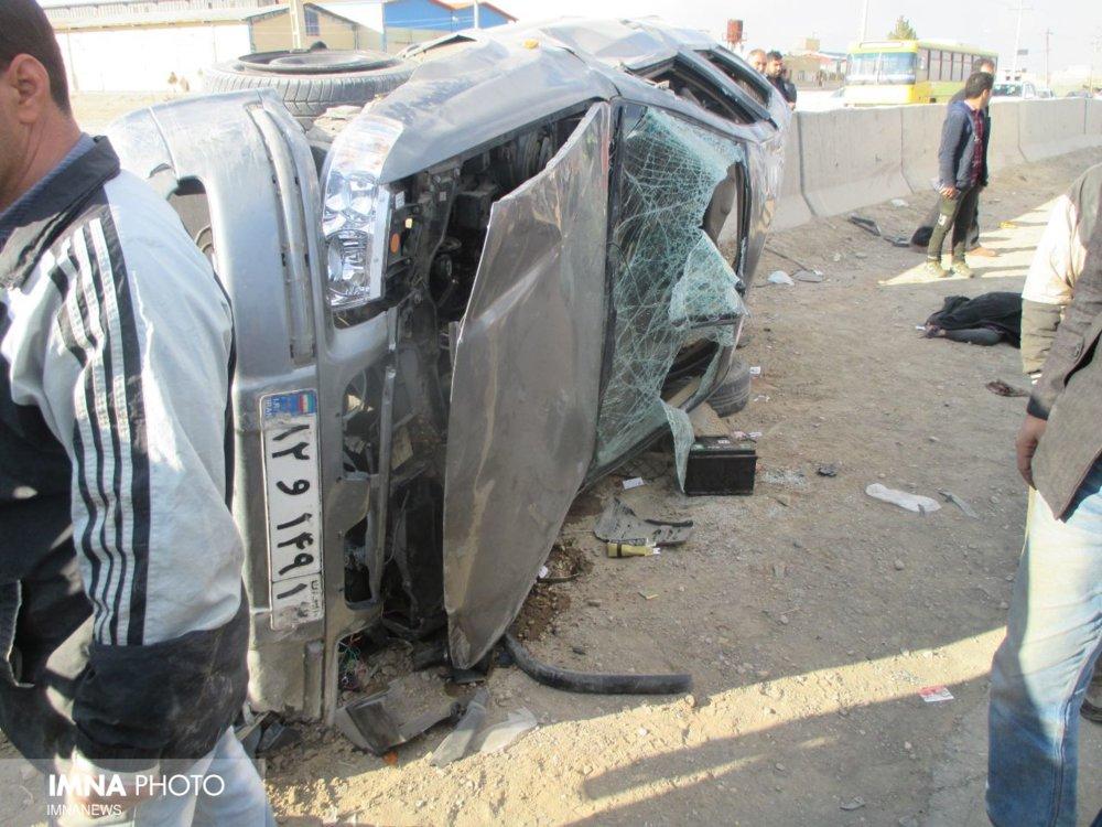 مرگ تلخ ۲ سرنشین در خودروی له شده