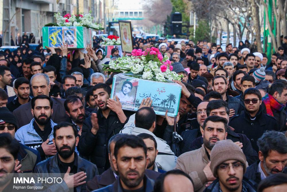 تشییع پیکر دو شهید حادثه تروریستی خاش در سمیرم