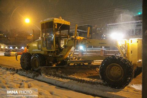 بارش برف در سمیرم