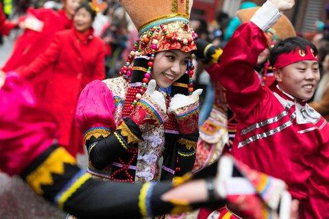 Chinese new year celebrations in Soho.