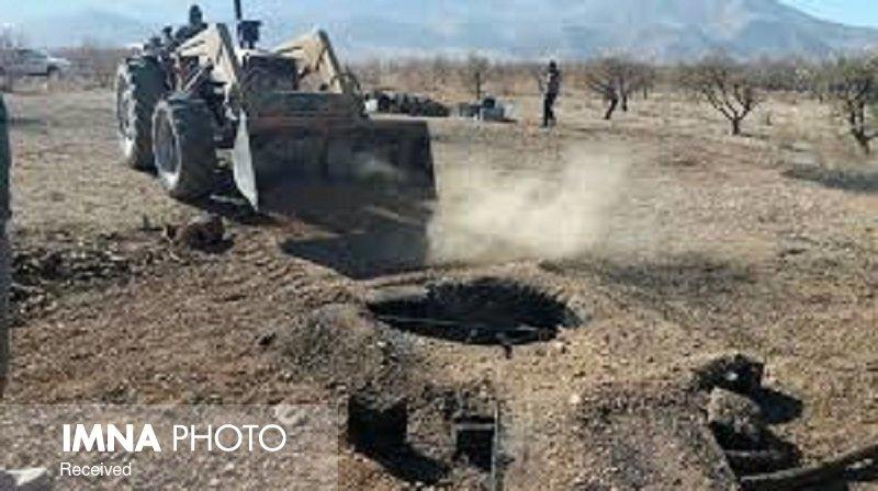 تخریب ۳۵ حلقه چاه زغال غیرمجاز در نجفآباد