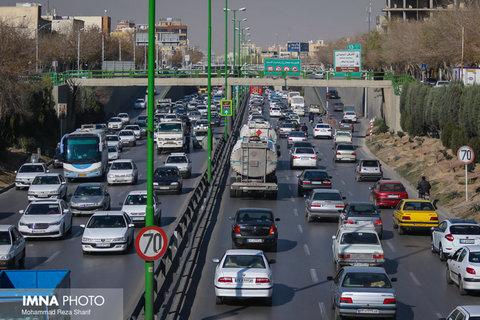 آخرین وضعیت ترافیکی خیابان های شهر اصفهان امروز ۱۳ مهر