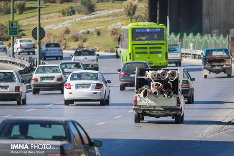 آخرین وضعیت ترافیکی خیابان های اصفهان