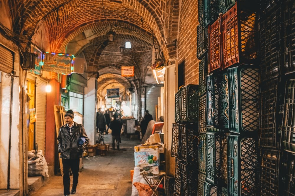 Iran home of largest roofed bazaar in world