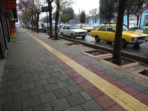 پیشرفت ۹۰ درصدی پیادهروسازی خیابان پروین