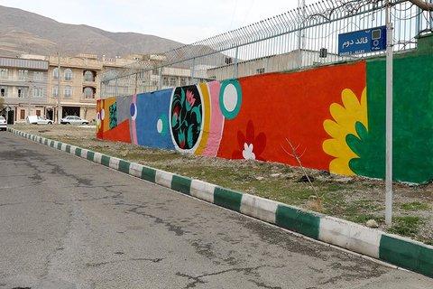 زیباسازی ۱۵۰۰ متر از معابر شهری نیر