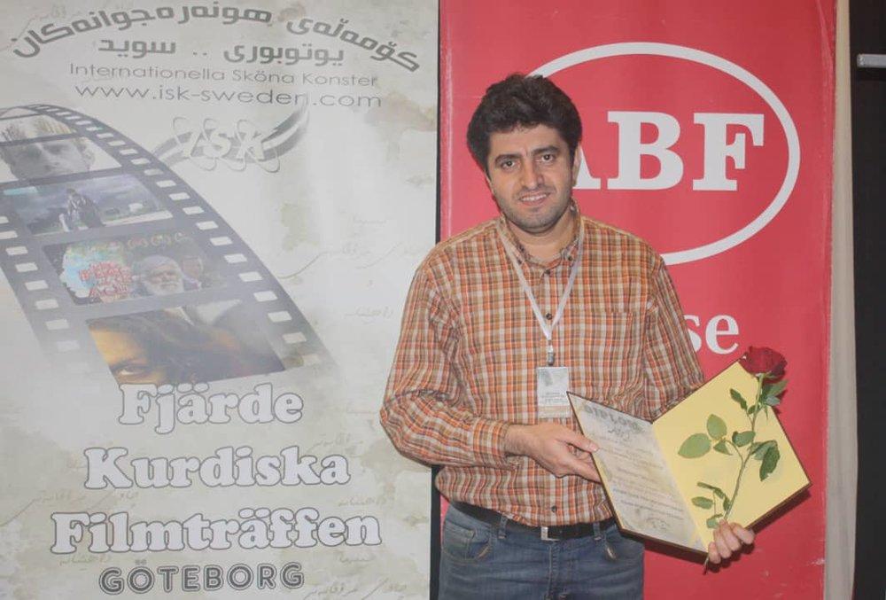 Mansour Jahani Received Journalism Award of Göteborg Fine Arts Association