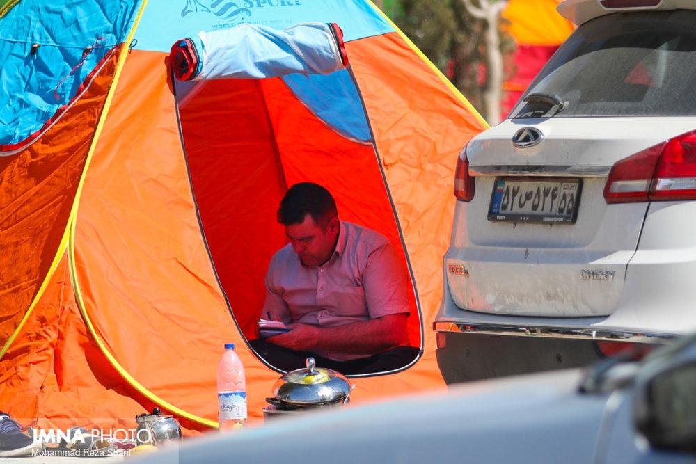 جمعآوری بیش از ۱۰۰۰ چادر مسافران نوروزی از سطح شهر