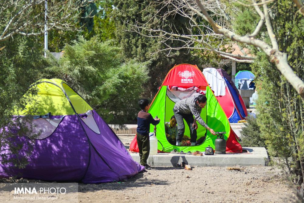 جمعآوری ۵۷ چادر مسافرتی در سیزدهمین روز فروردین