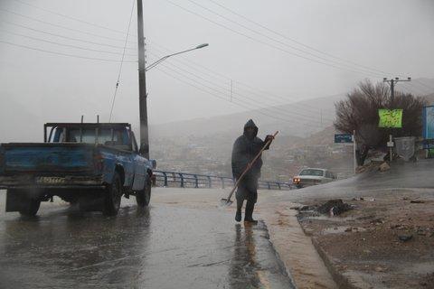 خسارت زیادی در بارشهای اخیر به راههای گیلان وارد شد