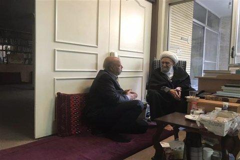 دیدار نوروزی استاندار اصفهان با حضرت آیت الله ناصری