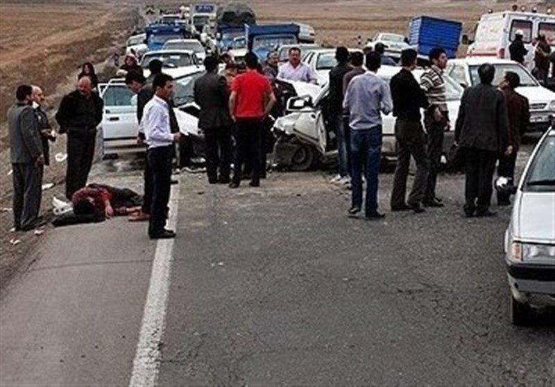 تصادف مرگبار در جاده گلپایگان ۵ کشته و ۵ مصدوم برجا گذاشت