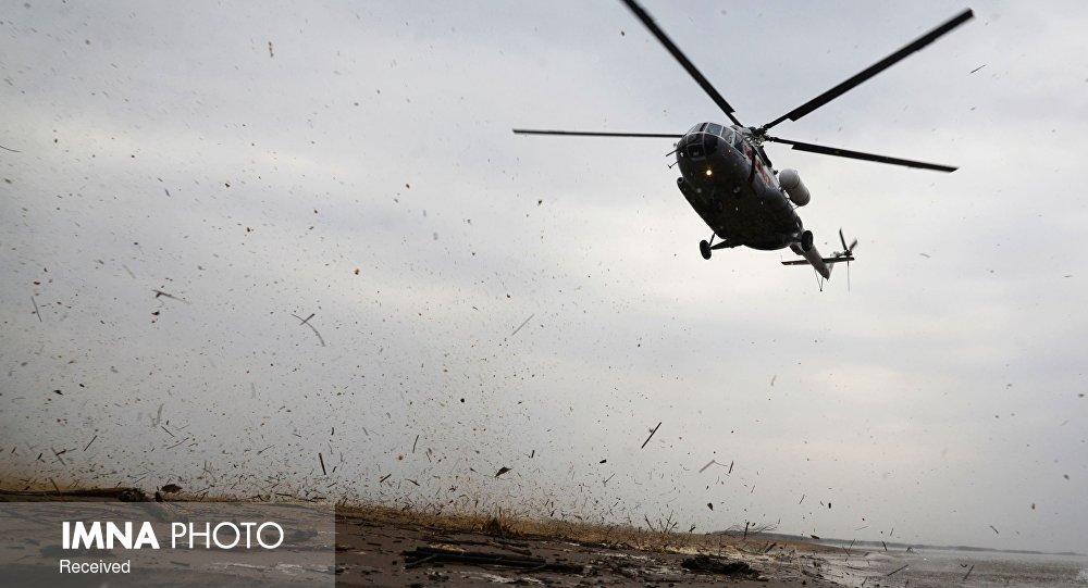 اعزام بالگردهای هوانیروز برای اطفاء حریق جنگلهای بوشهر و خوزستان