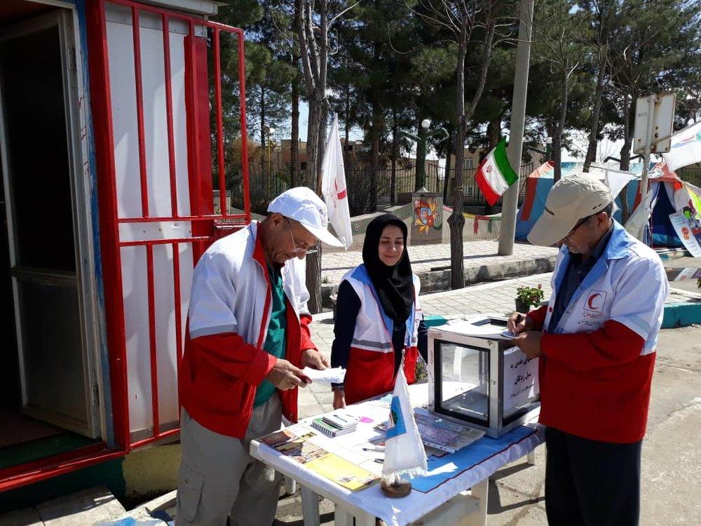 برپایی پایگاههای هلالاحمر اصفهان و کمک به مردم سیلزده بلوچستان