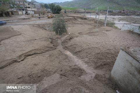 خسارت سيل در روستاهای لرستان