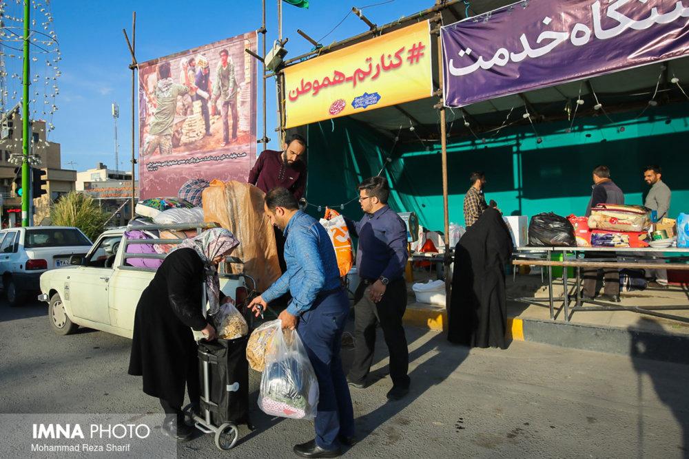 کمکهای مردم شهرضا به سیلزدگان