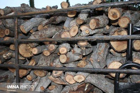 کشف ۵۸۰ کیلوگرم چوب بلوط قاچاق در لنجان