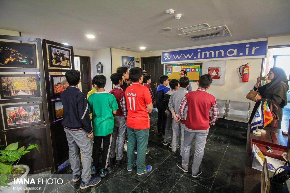 بازدید دانش آموزان از ایمنا