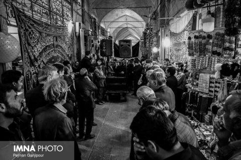 قافله عزای حضرت خدیجه(س) در بازار اصفهان