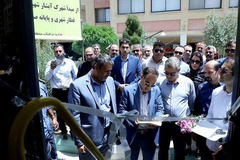 افتتاح خط اتوبوس شهرک شهید کشوری به ایستگاه قطار شهری