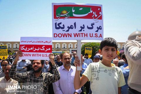 راهپیمایی مردم  نطنز و بادرود در محکومیت اقدامات آشوبگرانه اشرار  و بدخواهان نظام