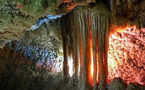 Valuable limestone cave in Iran