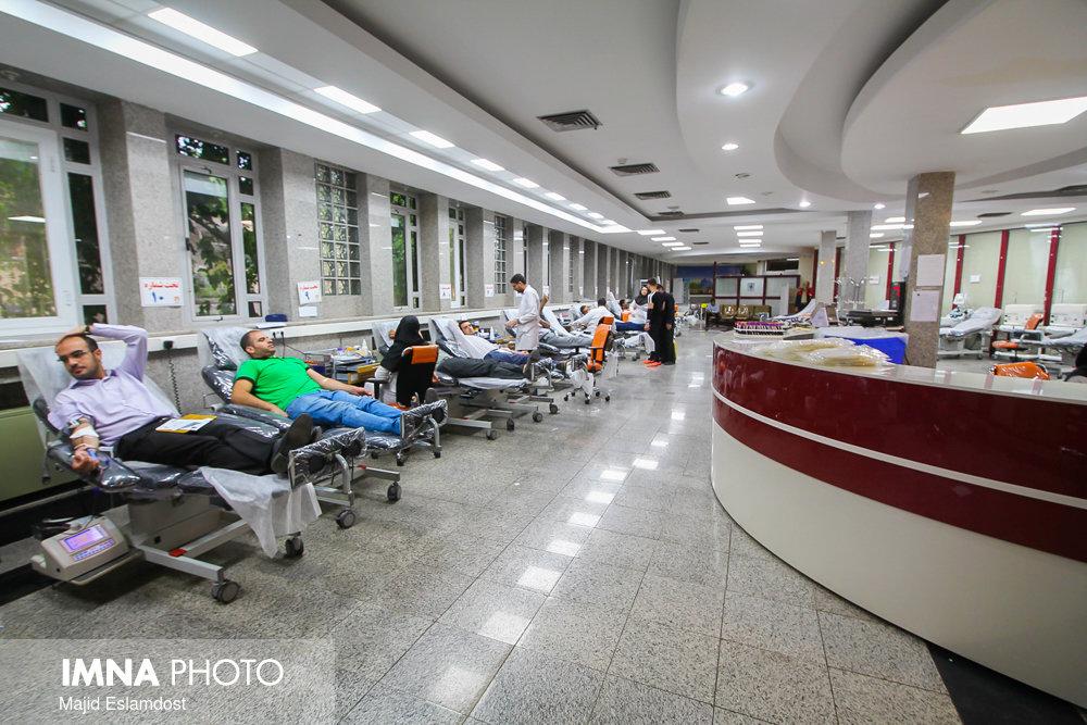 چگونگی فعالیت مراکز اهدای خون استان اصفهان
