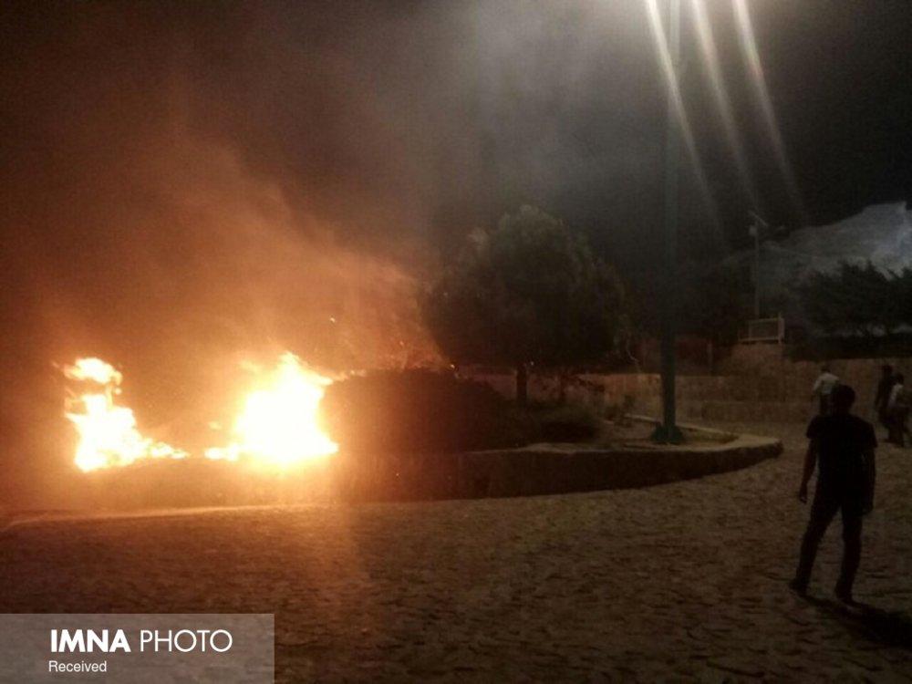 آتشسوزی درختان یزد در جریان ناآرامیهای اخیر