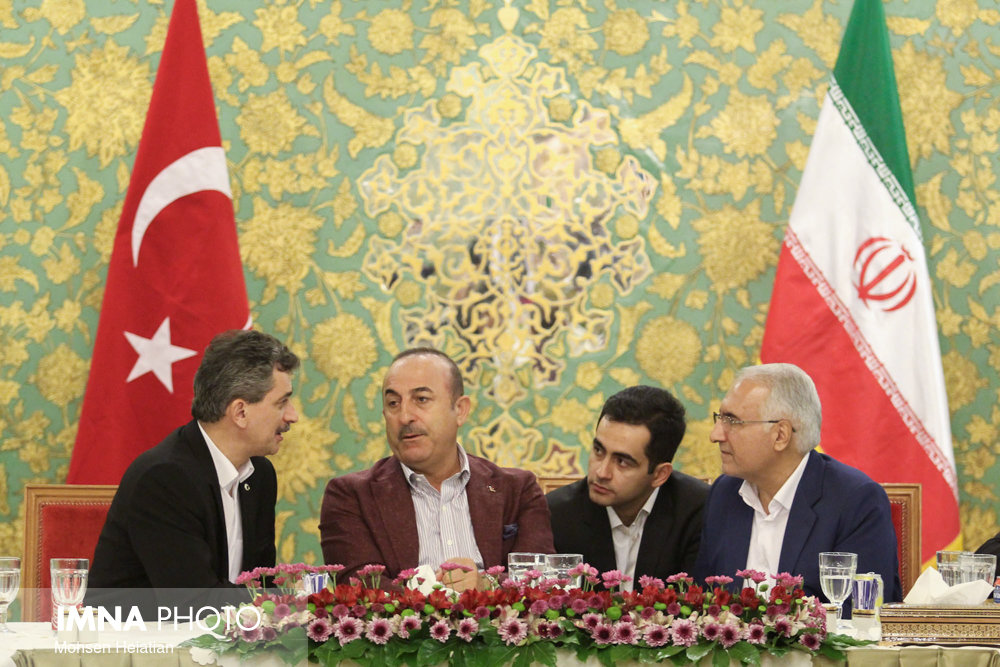 سفر وزیر امور خارجه ترکیه به اصفهان