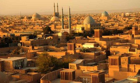 طراحی منظر خشک در شهر یزد