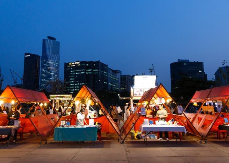"""بازارچههای """"تاشو"""" در سئول"""