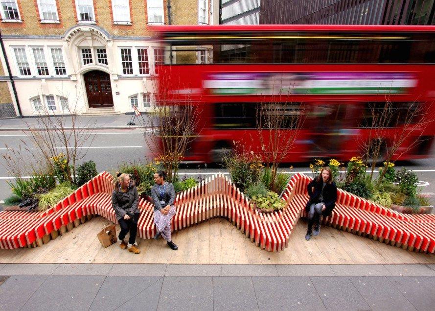خلاقیت شهری برای عابران پیاده در لندن