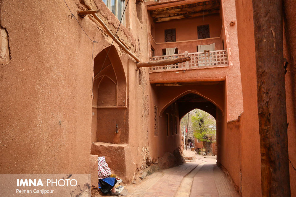 Picturesque Red Village in Isfahan