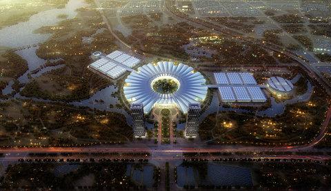 نمایشگاهی با معماری گل نیلوفر!