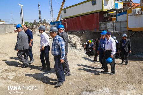 بازدید هیئت های مذهبی از پروژه های عمرانی