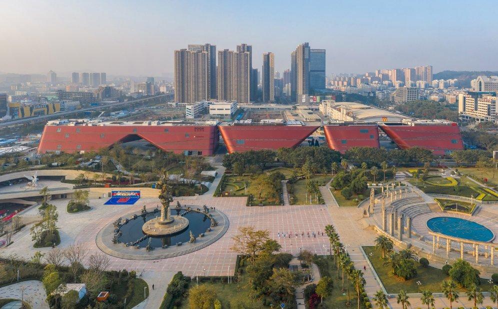 معماری جالب یک مجتمع فرهنگی در منطقه ویژه اقتصادی چین