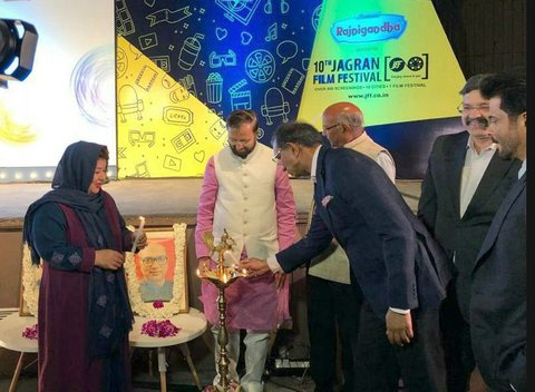 Anil Kapoor welcomes Pouran Derakhshandeh in 10th Jagran Film Festival in India
