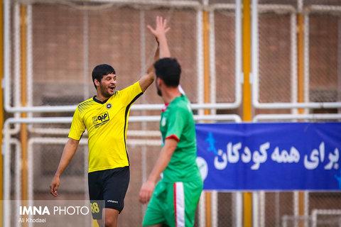 دیدار تیم فوتبال سپاهان و کودکان کار ایران