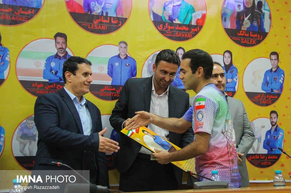 از مدالآوران ملیپوش اصفهان در مسابقات جهانی اسکیت بارسلونا تجلیل شد+ عکس