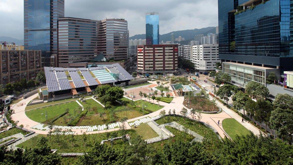"""نخستین جنگل شهری هنگکنگ در یک ساختمان """"کربن صفر"""""""