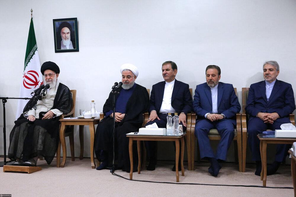 رئیس جمهوری و اعضای هیئت دولت با رهبر انقلاب اسلامی دیدار کردند