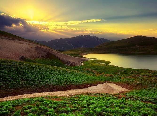 Scenic landscape at Iran's tri-border