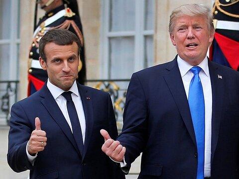 مکرون: با ترامپ در مورد لبنان صحبت کردم
