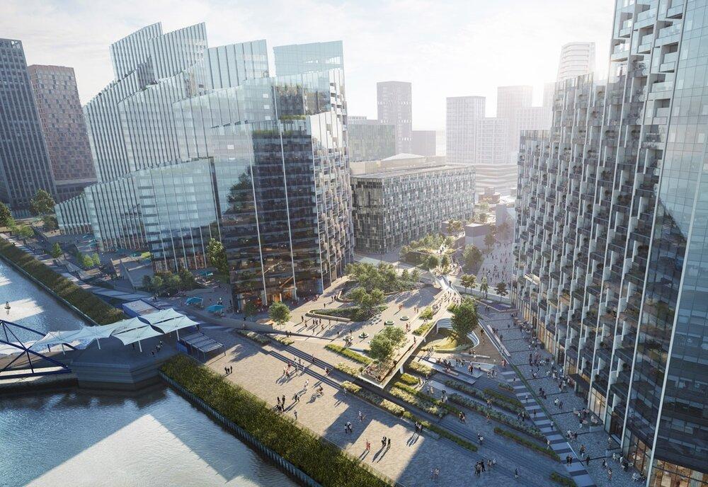 تلفیق طراحی مدرن شهری و هنر در پارک گرینویچ