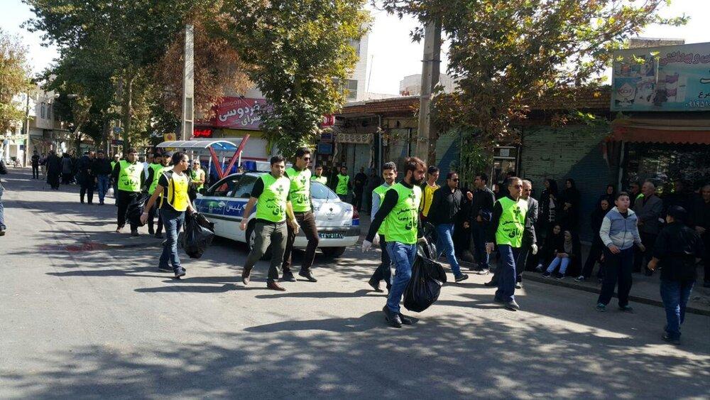 نظافت ۱۵ محله شهر بجنورد در طرح جمعههای جهادی