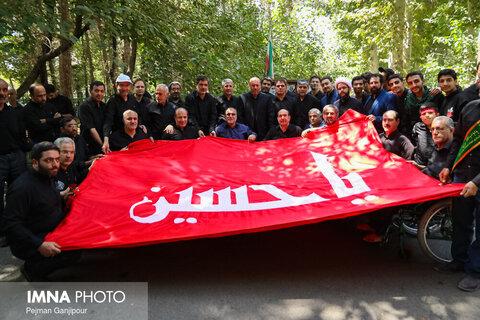 عزاداری روز تاسوعای حسینی در آسایشگاه جانبازان شهید مطهری