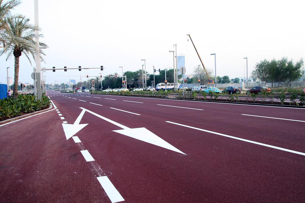 رنگیترین خیابانهای جهان در خلیج فارس