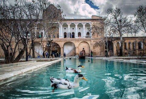 Unique Iranian architecture in Khosro Abad mansion